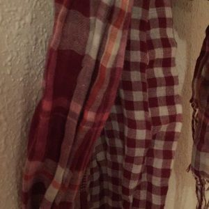 Aeropostale Accessories - Red, White & Light Pink Plaid Scarf
